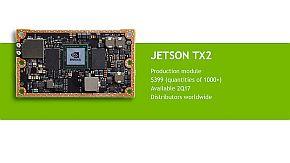 「Jetson TX2」の量産ボード
