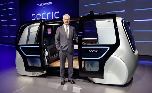 VWグループ CEOのマティアス・ミュラー氏とSedric