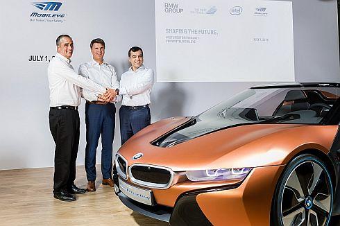 2016年6月に、インテルとモービルアイは、BMWとともに自動運転車の共同開発を発表している