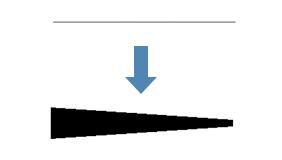 テーパー:始点・終点で幅を指定し、ポリラインの幅をテーパーする