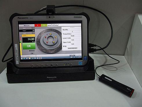開発中の「デジラチェ」からPCに無線通信で情報が送信される