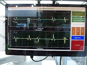 センサー情報から、ロボットの動きや重心位置を把握できる