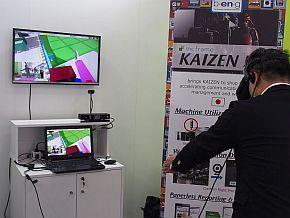 B-EN-Gが開発中のVR体験システムのデモ