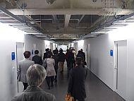 「INIAD Hub1」の2階の廊下