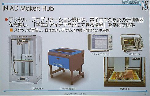 「INIAD Makers Hub」で用意する機器、設備