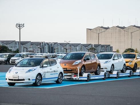 無人運転技術は完成車の輸送に活用中だ