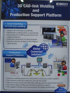 「3D CAD-link Welding」と溶接の生産監視システム