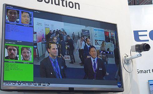 NECの動画顔認証技術の展示