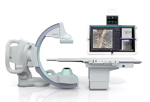 床置式Cアームタイプ血管撮影装置「Trinias F12 MiX package」