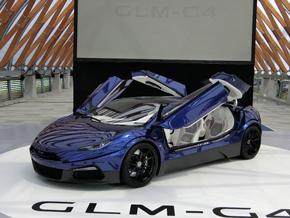 電気自動車(EV)のスーパーカー「GLM G4」のコンセプトモデル