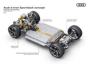 駆動用バッテリーを床下に配置することで重心を下げ、重量配分も最適化している