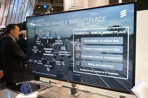 エリクソンの「Connected Vehicle Marketplace」のイメージ
