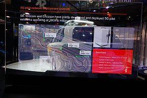 SKテレコムとエリクソンによる5Gの実証実験結果の展示