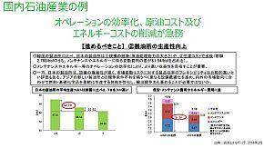日本国内と韓国の製油所の比較