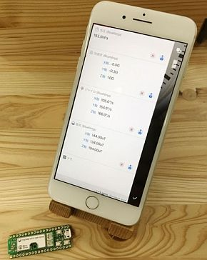 「BlueNinja」からの多様な情報をスマートフォンのアプリ上で手軽に取得できる