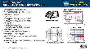 「ADXL1001/1002」の特徴