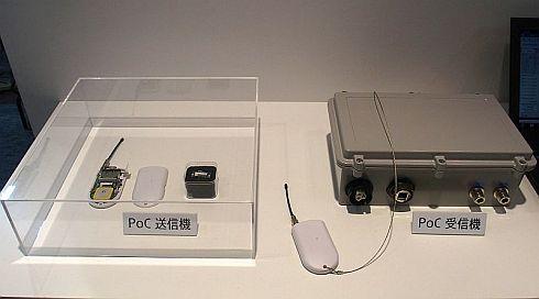 ソニーのLPWAの実証実験で用いられている送信機と受信機