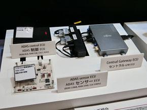 先進運転支援システム(ADAS)のセンサーECUと制御ECUのソフトウェアを更新するデモを行った