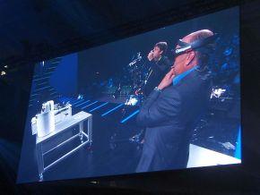 「HoloLens」を装着したヘプルマン氏の目の前にあるのは実物の「CytroPac」だけ