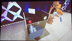 「HoloLens」を使って実際に表示した状態