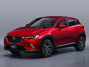 マツダは2017年夏、「CX-3」にガソリンエンジン搭載モデルを設定する。燃費値は国際基準のテストサイクルで測定した