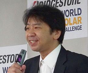 東海大学ソーラーカーチームの総監督を務める木村英樹氏