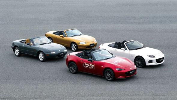2人乗り小型オープンスポーツカーとして生産累計台数が世界一。4代の間にデザインはどう移り変わってきたか