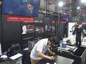 「VR空間でのロボット制御」のデモ