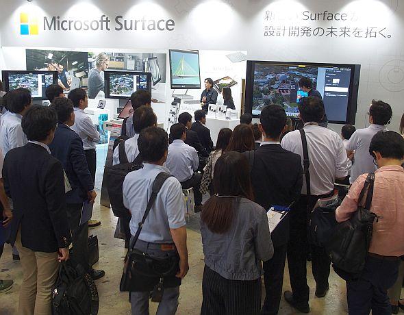 「Surfaceファミリー」を前面に押し出した日本マイクロソフトブース