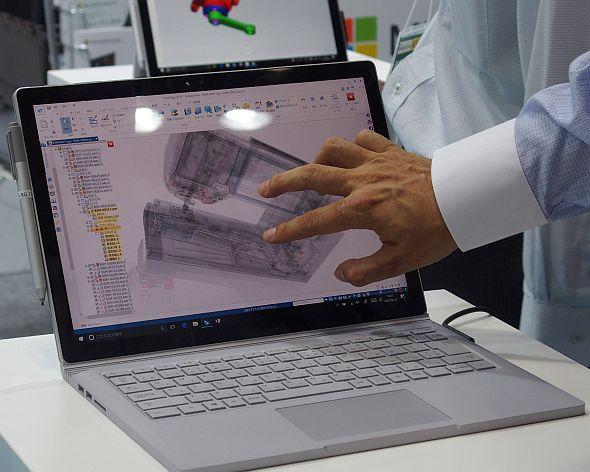 「Surface Pro」や「Surface Book」は「Solid Edge」など設計業務のモビリティーを重視する3D CADツールの認定を取得している