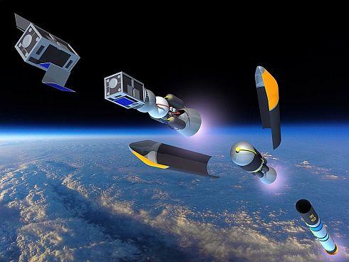 超小型衛星用ロケットのイメージCG
