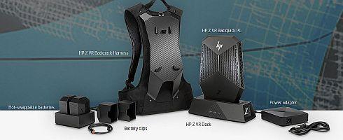 「HP Z VR Backpack」のパッケージ