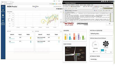 Webサーバとブラウザ経由で可視化される「AXON」の画面例