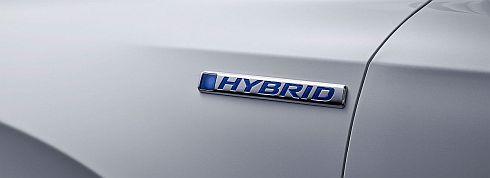 「CR-Vハイブリッド」のハイブリッドエンブレム
