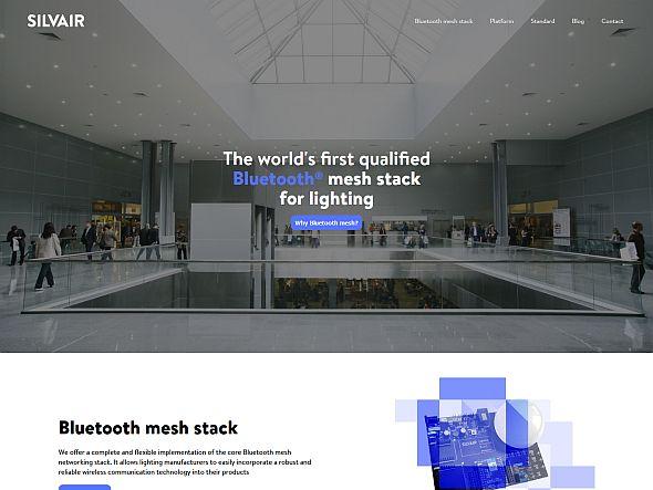 SilvairのWebサイト