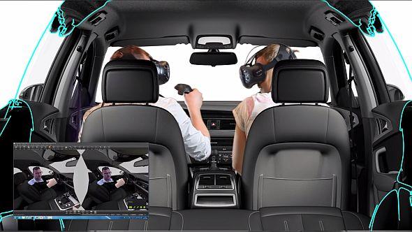 「VIVE」と「VRED」を用いた自動車内装のデザインレビューのイメージ