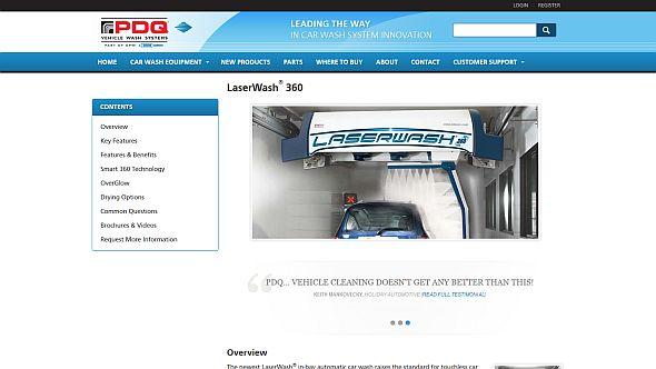 「LaserWash 360」のWebサイト
