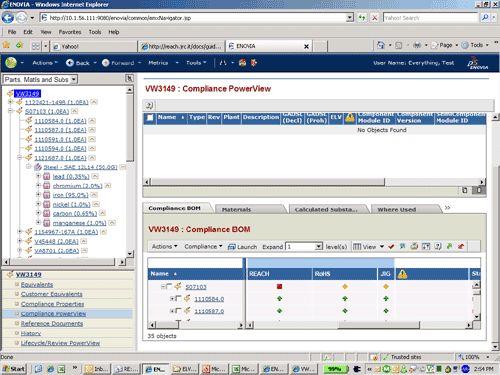 2008年ごろの「ENOVIA V6」の画面例
