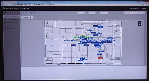 トラッキングシステムの画面例