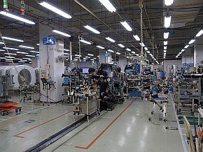CTガントリの生産ライン