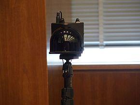 会見場に設置された「3D LiDAR」