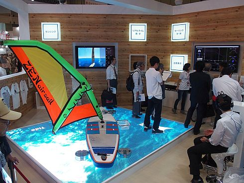 富士通ブースに「Windhack」の展示