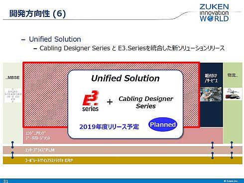 「E3シリーズ」と「Cabling Designerシリーズ」を2019年度めどに統合する