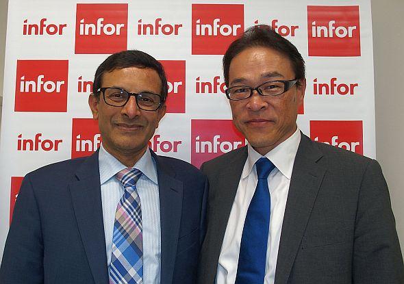 インフォアのソマ・ソマスンダラム氏(左)とインフォアジャパンの三浦信哉氏(右)