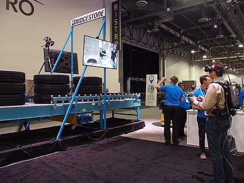 ブリヂストン・ナッシュビル工場のVR、ARに関する取り組みの展示