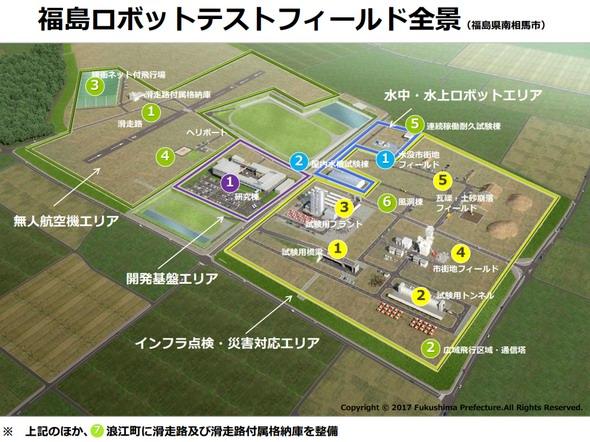 福島ロボットテストフィールド全景