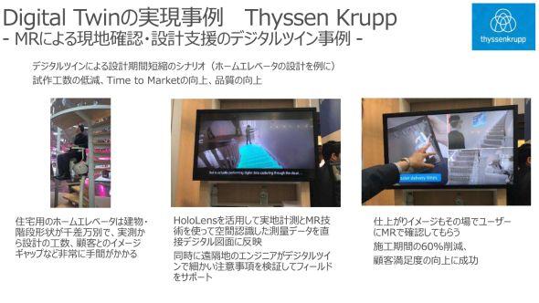 ThyssenKrupのデジタルツイン活用事例