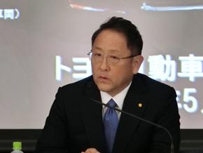 2016年度通期決算発表に臨む豊田章男氏