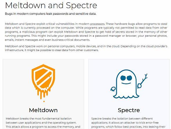 グラーツ大学のWebサイトでは「Meltdown」と「Spectre」の概要を報告している