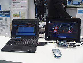 「AUTOSAR on Linux」のデモ展示